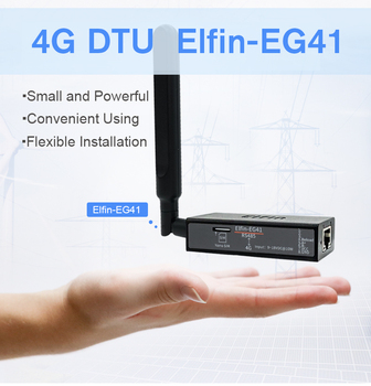 Elfin-EG41 4g DTU module wireless two-way transparent transmission RS485 serial data transmission full Netcom LTE communication