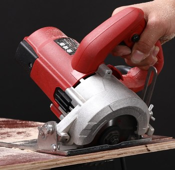 Multifunctional circular sawing machine for household stone wood wall slotting and cutting