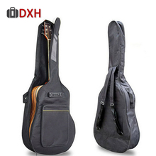 Сумка для гитары утолщение рюкзак двойные ремни водонепроницаемый акустический коврик Оксфорд мягкий чехол для 40 41 дюймов Большой Чехол для гитары
