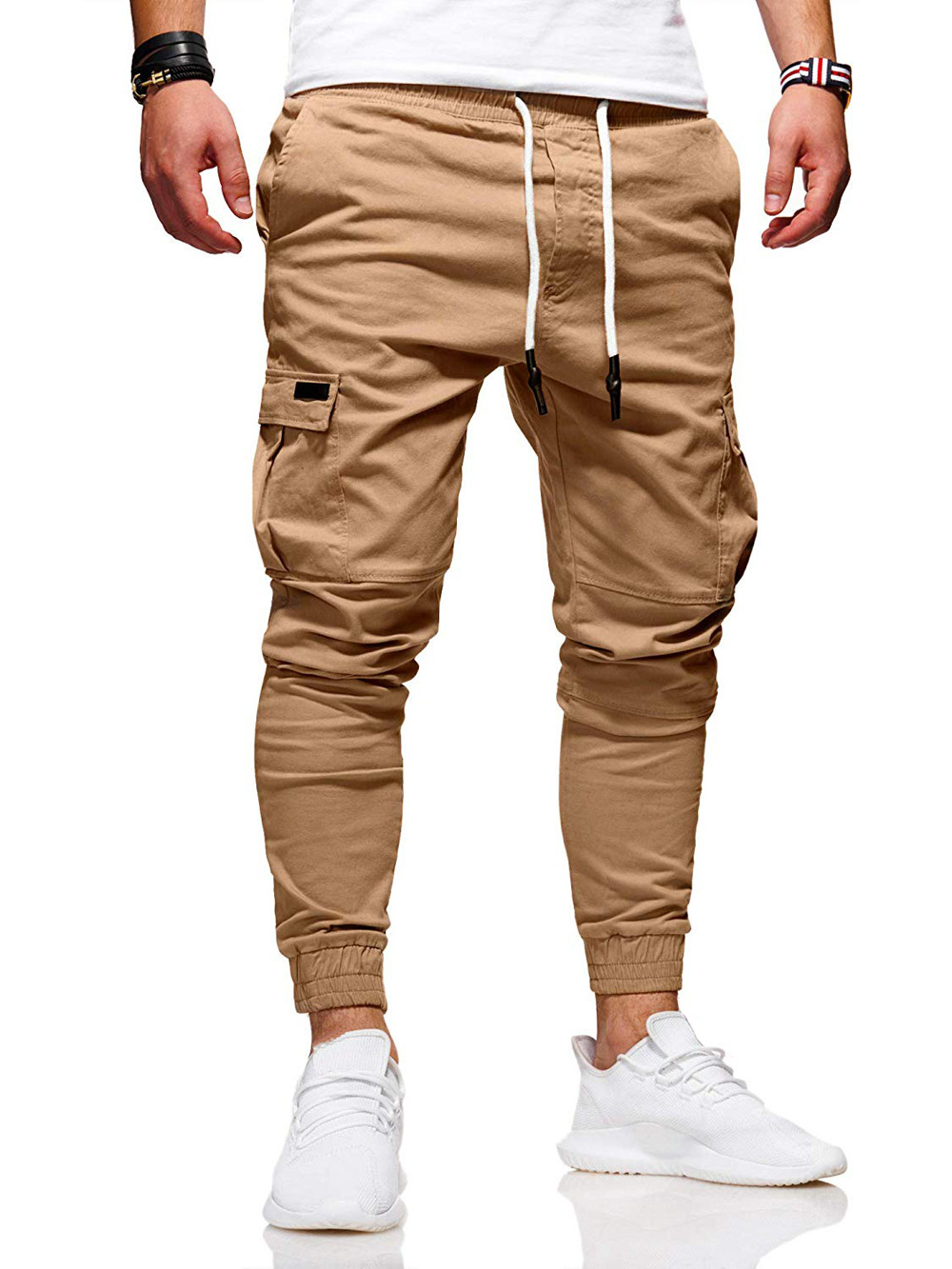 Puimentiua 2019 New Style Fashion Hot Solid Pocket Men's Jogger Pants Urban Hip Hop Harem Casual Trousers Slim Fit Elastic