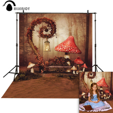 Allenjoy  photography backdrops Mushroom Fairy alice in wonderland party child photocall photobooth Background for photo studio