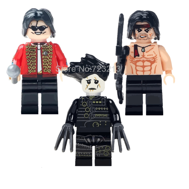 Single Sale Jackson Figure Movie Stallone Edward Scissorhands Building Blocks Set Model Kits Bricks Toy Legoing