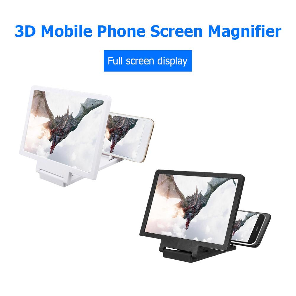 3D Mobile Phone Screen Magnifier HD Smartphone Amplifying Stand Movie Video Foldable Desktop 5.5 inch Bracket Folding Holder