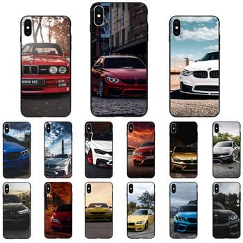 Blue Red Car For Bmw Phone Case For IphoneX XS 11 11Pro 55s SE6 6splus7 8 SE 2020 Case image
