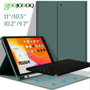 GOOJODOQ Bluetooth Keyboard Smart Case For iPad 10.2 2019 / Pro 11 2020 Air 3 10.5 / 2018 9.7 Air for iPad 7th Generation Case(China)
