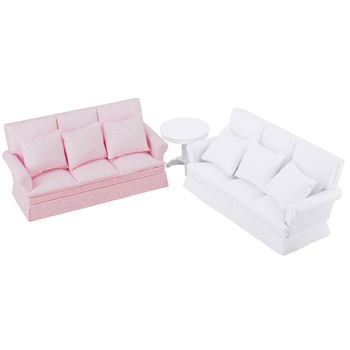 new 1 12 dollhouse sofa with back cushion mini sofa chair furniture model toys for doll house decoration miniature accessories