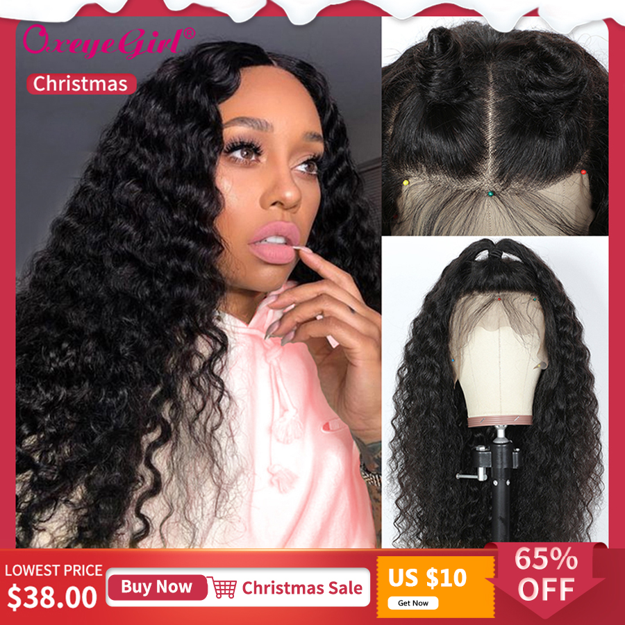 13x6 Lace Front Wig Brazilian Hair Deep Wave Wig Remy Lace Front Human Hair Wigs For Black Women Oxeye Girl Curly Human Hair Wig