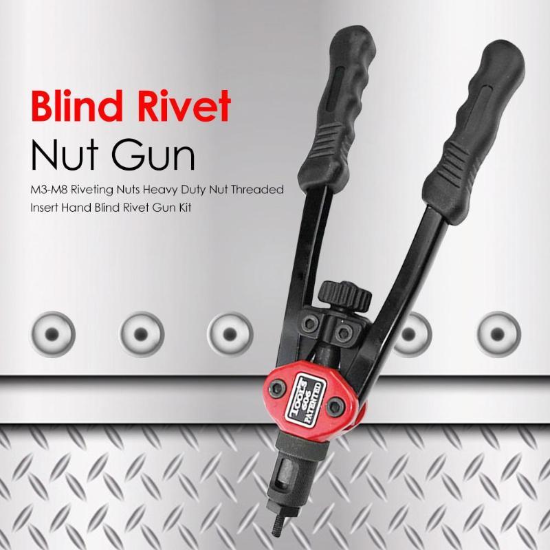 Rivet Nut Gun Kit With Wide Scope Of Application Simplicity Stainless Steel Flat Head Threaded Rivet Insert Nutsert Cap