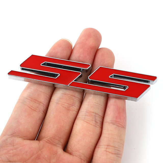 Pegatina de coche para capó delantero, emblema de parrilla, placa de rejilla para Chevrolet SS Sport Cruze Camaro Captiva Aveo Lacetti, pegatinas de tronco trasero