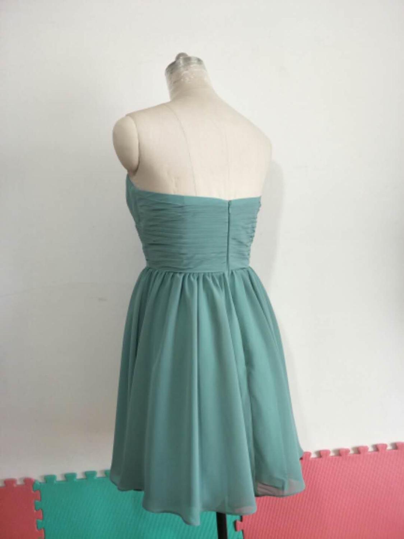 Elegant A-Line Chiffon Short Bridesmaid Dresses with Pockets Sweetheart Pleated Custom Corset Back Formal Wedding Party Dresses