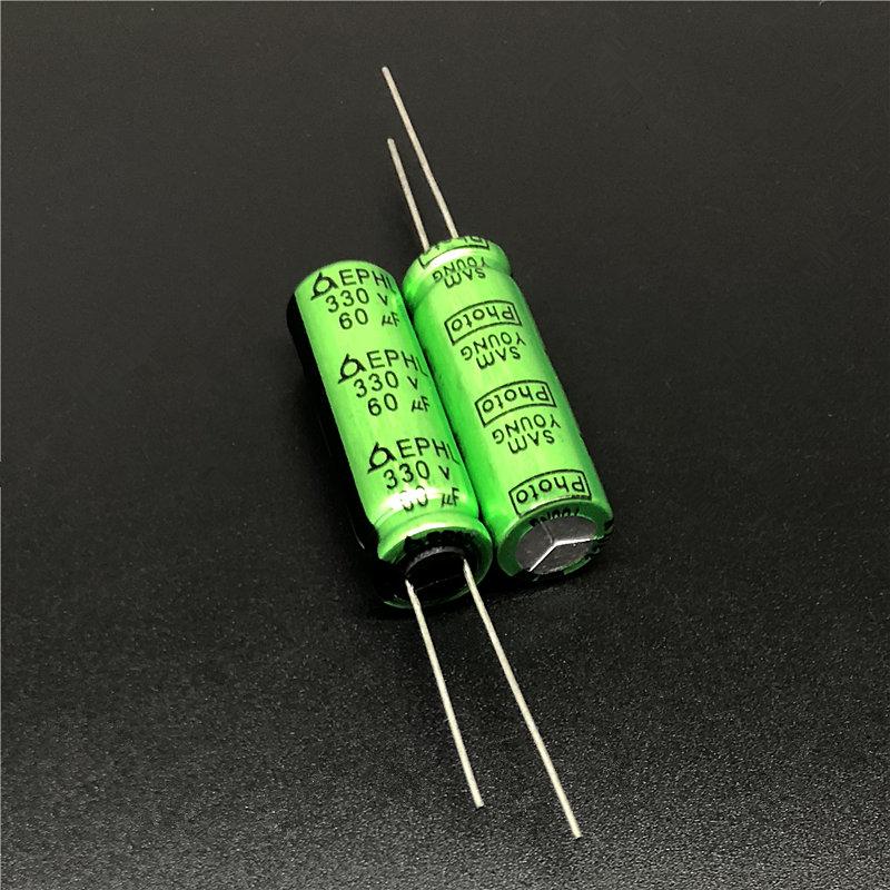2pcs- 90uf 330v Photo Flash capacitors 330v90uf Rubycon JAPAN
