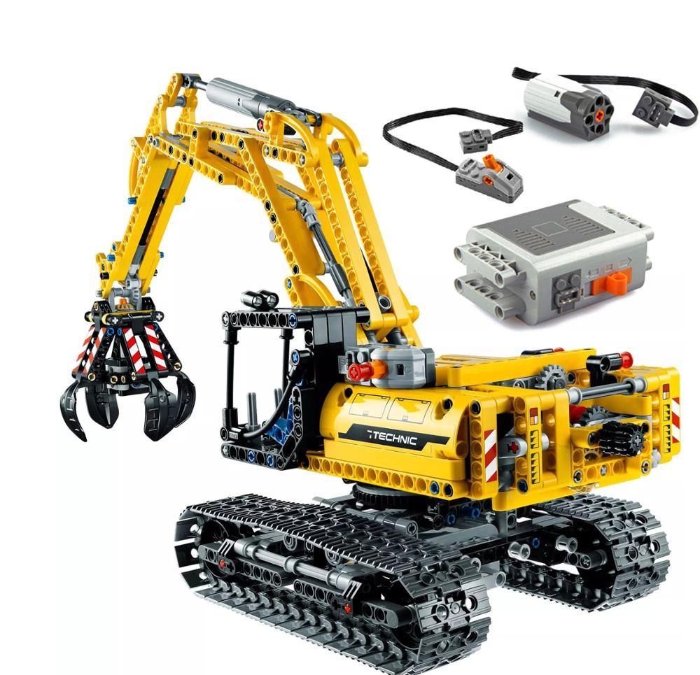 720pcs Compatible With Technic Excavator Model Building Blocks Brick PF Motors Set City Kids Toys For Children Gifts