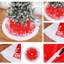 122CM Christmas Tree Skirt Red Christmas Tree Apron Hotel Shopping Mall Home Garden Holiday Decoration 20