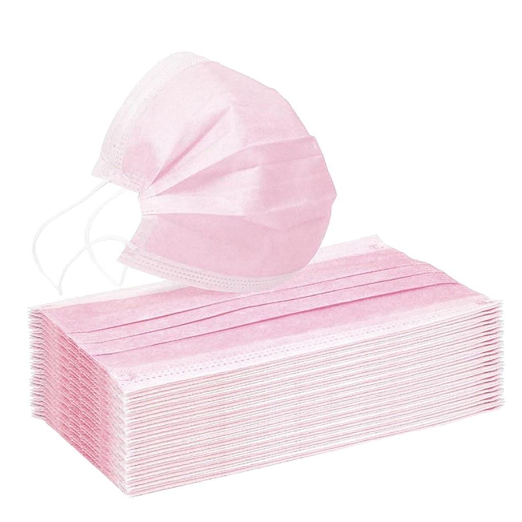 10 шт. Fmaske одноразовая Маска Пылезащитная Маска для лица с изображением рта крышка На открытом воздухе ты слишком близко розовый Mascarillas Mascarilla Маска Тканевая На Рот