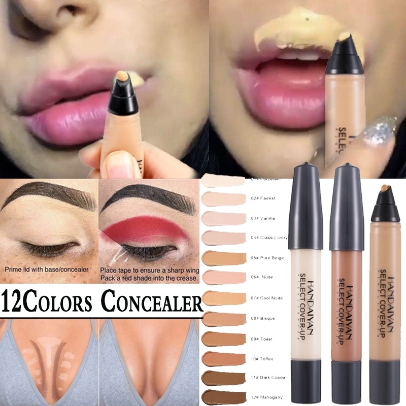 Face Foundation Liquid Concealer Pen Matte Long Lasting Contour Tattoo Concealer for Eye Lip Dark Circle Cover Waterproof Makeup image