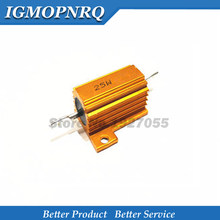 25W Aluminum Power Metal Shell Case Wirewound Resistor 0.01 ~ 30K 1 2 3 5 6 8 10 20 100 150 200 300 500 1K 10K ohm RX24