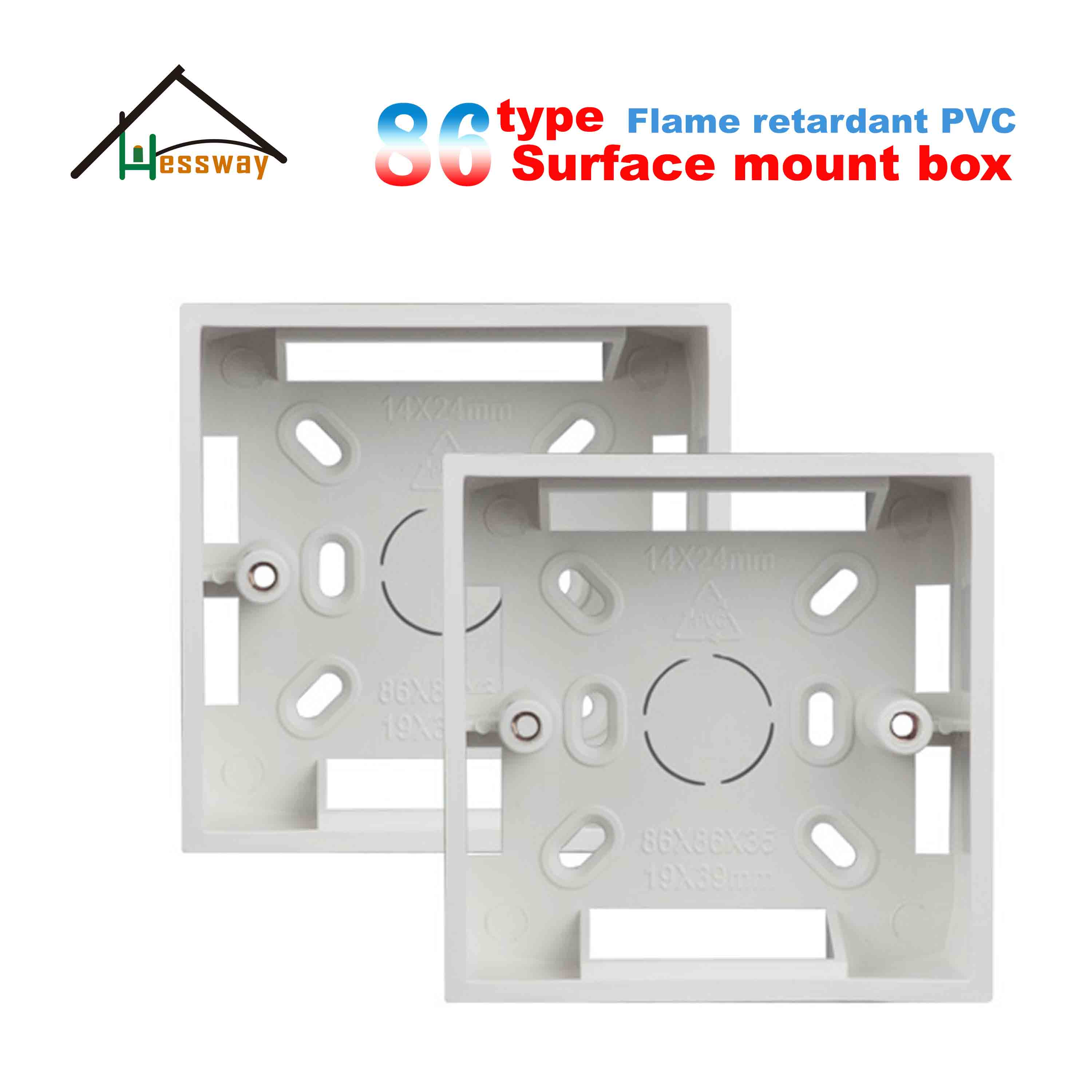 86 Type Wall Surface Mount Box For Size 86*86*35