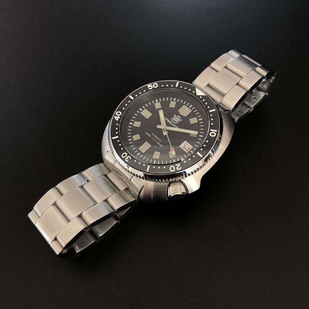 Steeldive Men Vintage Stainless Steel Dive Watch 200M Water Resistant Ceramic Bezel Automatic Movement Wristwatch