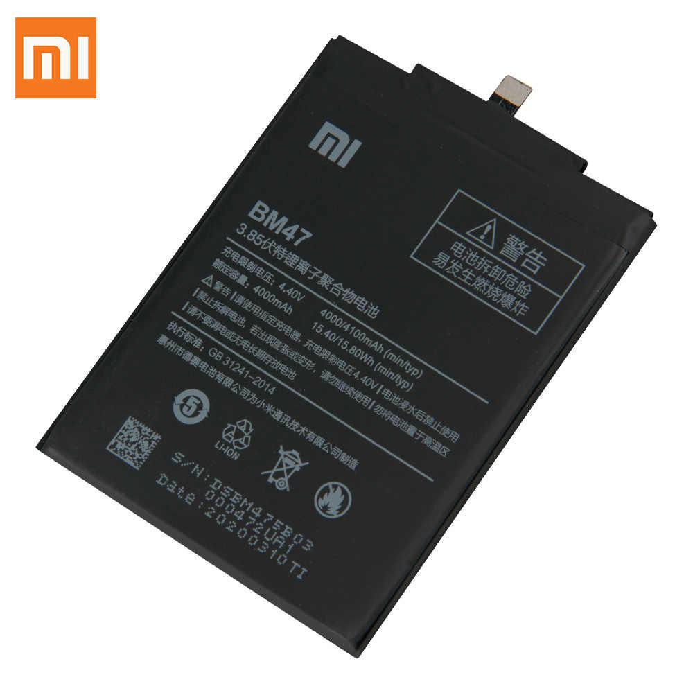 Baterai Asli BM47 untuk Xiaomi Redmi 3 3S 3X 4X Redmi3 PRO Redmi Note 4 4X Pro BN41 Xiaomi 9 M9 Mi9 BM3L Mi5s MI 5S BM36