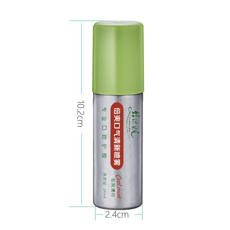 20ml Peppermint Breath Freshener Oral Spray Deodorizing Care Spray Mint Bad Odor Halitosis Treatment Clean Mouth Drop Shipping 5