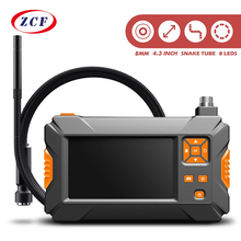 P30 Handhold Screen Endoscope Dual Lens Camera 4.3 inch Industrial Borescope 8mm 2.0mp Inspection Snake Camera 18650 Battery
