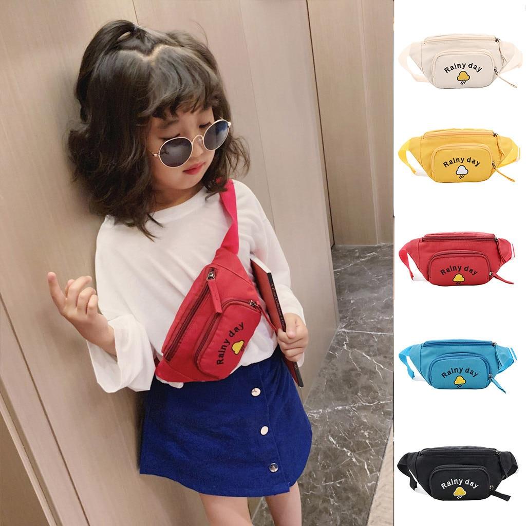 Милый поясной комплект для детей Unsix, новинка 2019 года, модная сумка на молнии, нагрудный карман, сумка через плечо, кошелек для монет, для дете...