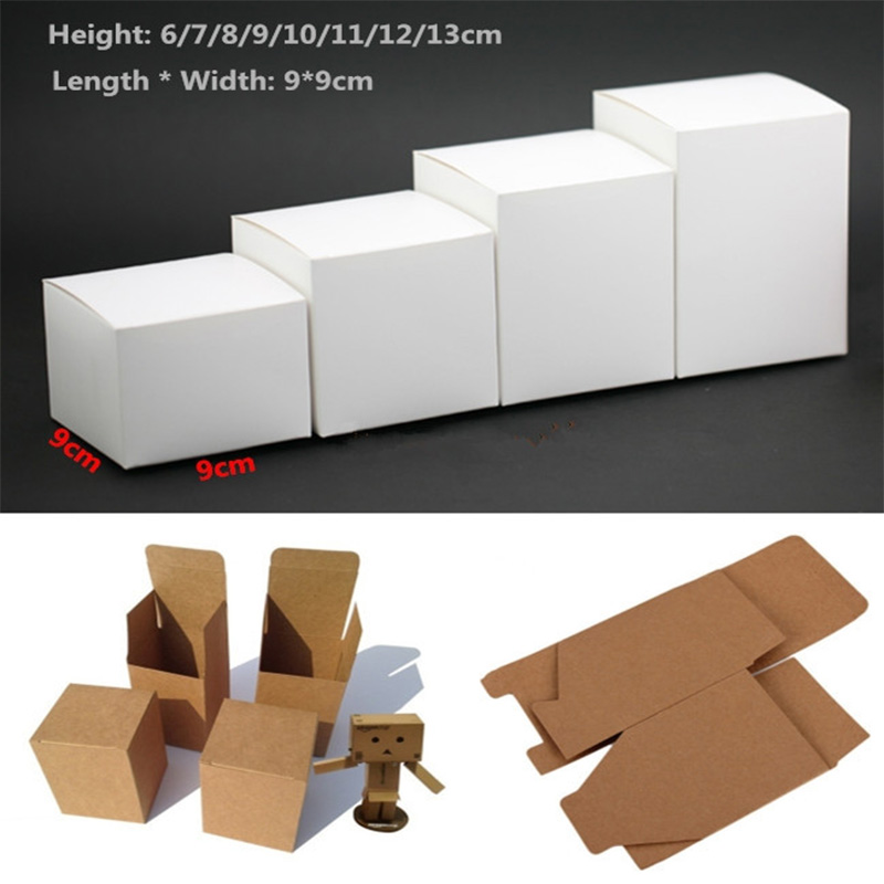 50pcs Kraft Paper Cardboard Box For Jewelry Gift Candy Packaging Carton Box Gift Soap Package White упаковка Packing Paper Box