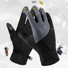 Водонепроницаемые зимние теплые перчатки мужские лыжные перчатки Сноуборд мотоциклетные перчатки Зимний сенсорный экран Снежная перчатка-ветровка