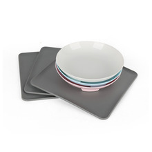 Silicone Dog Bowls with No Spill Non-Slip Food Bowl Mat Feeder Removable Waterproof Tray