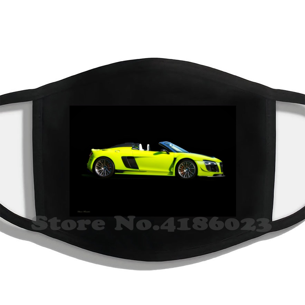 2015 R8 Gtr 'Profile On Black' Funny Cool Cotton Mask Auto Automobile Automotive Car Transportation Vehicle Race Challenge