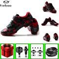 Tiebao велосипедная обувь sapatilha ciclismo mtb для мужчин добавить педаль SPD набор самофиксирующийся велосипед езда Горный велосипед суперзвезда крос...
