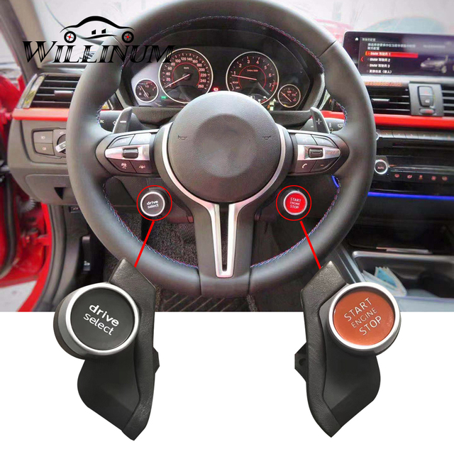 Direksiyon düğmeler BMW F10 F11 F30 F32 F15 F25 motor push start stop butonu kontak başlatma anahtarı spor modu kontrol