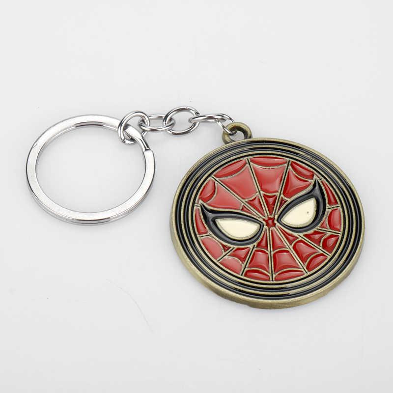 Nóng Phim Avengers Logo Batman Mặt Dây Móc Khóa Siêu Anh Hùng Siêu Nhân Nhện Thor Bát Người Sắt Móc Khóa Cosplay Llaveros Dành Cho Nam