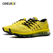 цена на ONEMIX Air Cushion Running Shoes for men mesh unique shoe Nice Zapatillas Athletic Trainers Sports Outdoor Jogging Sneakers