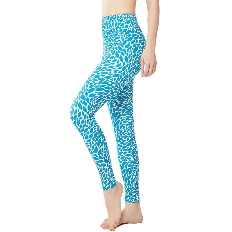 9084 Fresh Simple Small Leaves Yoga Pants Women's Athletic Pants Tight Leggings Large Size