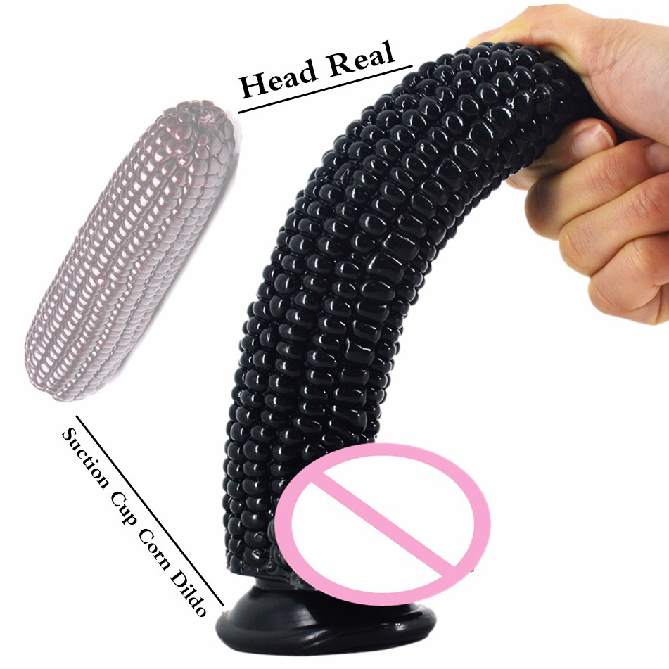Soft Big Dildo Corn Anal Plug Dildo With Suction Cup G-Spot Stimulate Vaginal Masturbation Products SM Sex Toy For For Women Gay