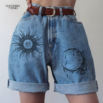 2021 Summer Fashion Denim Shorts Women New Hemming Blue Boyfriend Style Women's Short Pants Loose Denim Shorts Streetwear Shorts 1