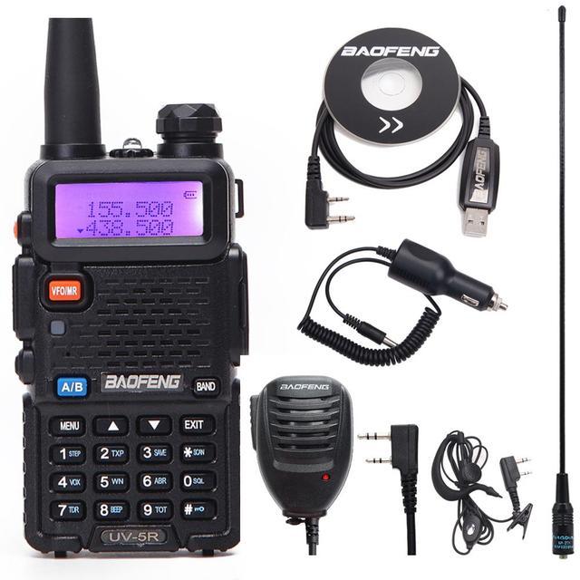 BaoFeng UV 5R VHF/UHF136 174Mhz & 400 520Mhz Dual Band ווקי טוקי שני רדיו דרך Baofeng כף יד UV5R CB נייד רדיו חם
