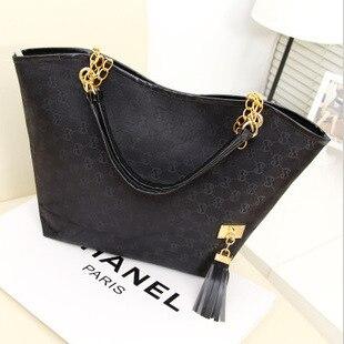 2018 WOMEN'S Fashion Handbag Europe And America New Style Printed Canvas Handbag Shoulder Bag
