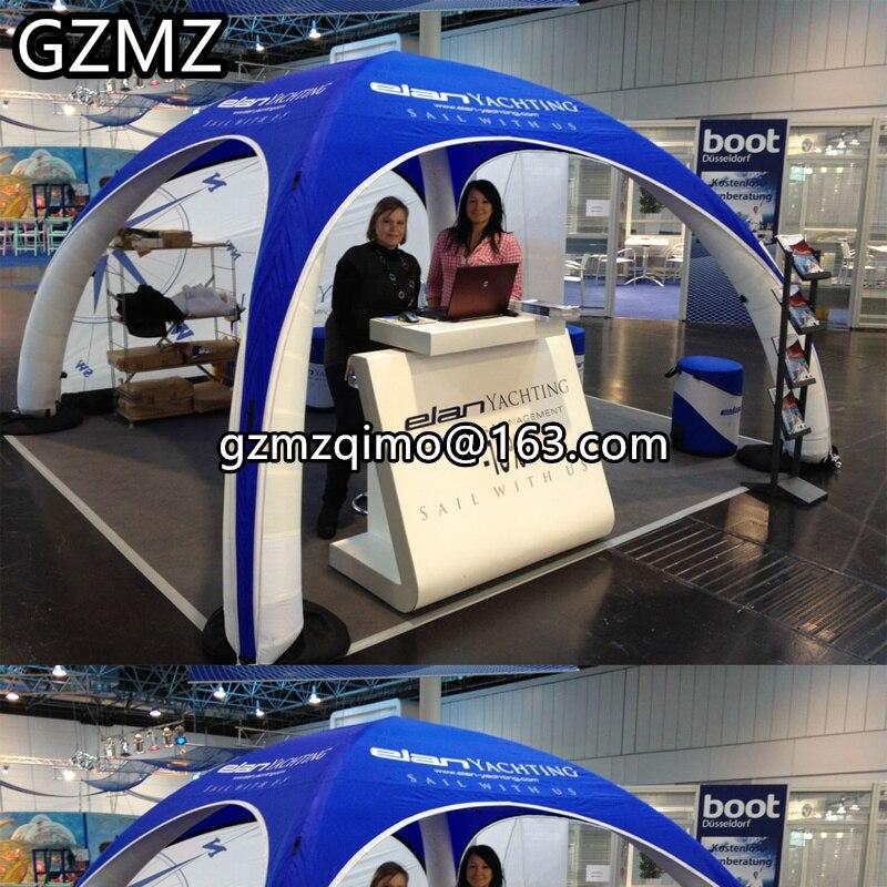 Tente gonflable de MZQM 6mx3mH pour des expositions de voiture, tente de dôme d'araignée de 4 jambes avec l'impression pour des événements-tente de jouet
