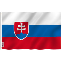 ANLEY Fly Breeze 3x5 Feet Slovakia Flag - Slovak Republic Flags Polyester with Brass Grommets 3 X 5 Ft(China)