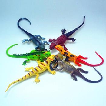 цена на 37cm Simulation Lizard PVC Squeaky Animal Model Kids Bedtime Educational Toy gift for children