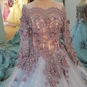 Image 5 - LS00034 evening dress lace beading ball gown long party formal dress organza robe de soiree abendkleider 2018 real photos