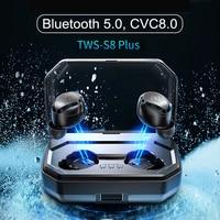 TWS S8 plus Wireless Bluetooth Earbuds Touch Control Earphone IPX6 Waterproof Earphones Auto Pairing With 3000mAh Charging Box|Bluetooth Earphones & Headphones| |  -