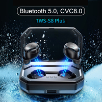 TWS S8 plus Wireless Bluetooth Earbuds Touch Control Earphone IPX6 Waterproof Earphones Auto Pairing With 3000mAh Charging Box