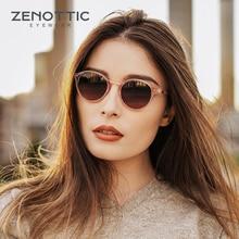 Zenottic moda feminina óculos de sol polarizados retro redondo óculos de sol unisex uv400 tons óculos de sol bt4203s