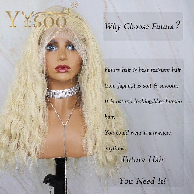 YYsoo Long 613 Color13x6 pelucas sintéticas rizadas con encaje frontal para mujeres Japón Futura Peluca de bebé de onda suelta resistente al calor
