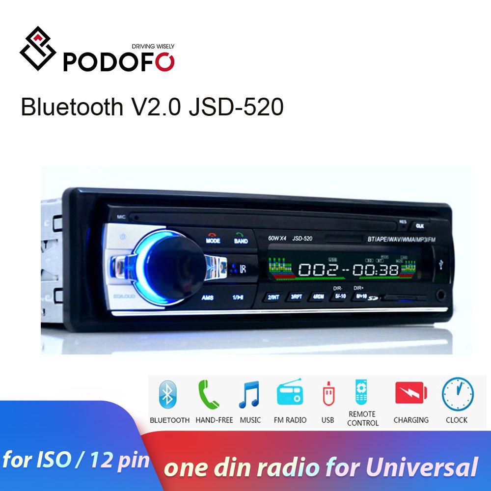 Podofo один din автомагнитола Стерео FM Aux вход приемник SD USB JSD 520 12 В в тире 1 din Автомобильный MP3 USB мультимедиа авторадио плеер|Мультимедиаплеер для авто|   | АлиЭкспресс