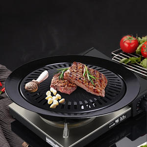 Barbecue-Tray Oven-Grill Nonstick Teppanyaki Round Outdoor Korean Portable Cassette