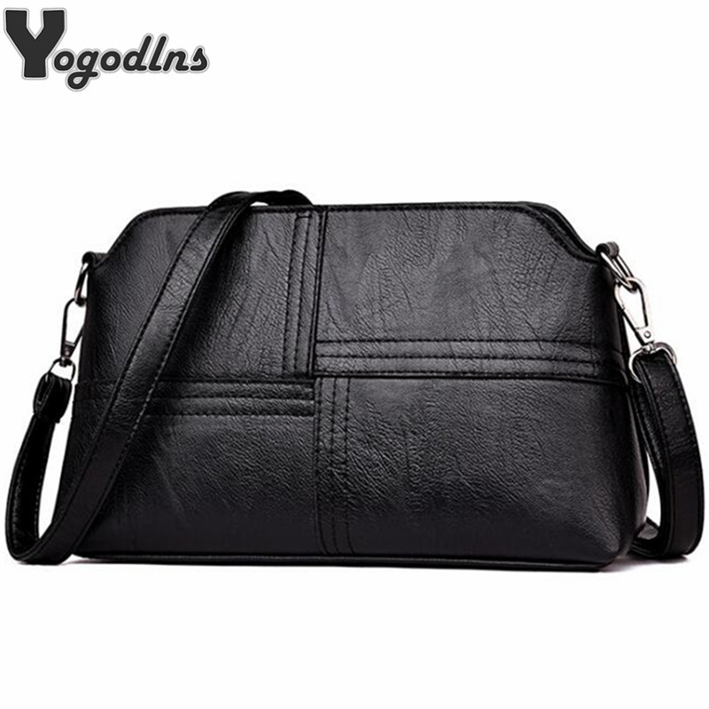 Vintage Hot PU Leather Ladies Messenger Bags Small Totes Mother Purse Handbag Single Strap Sling Shoulder Bag For Women